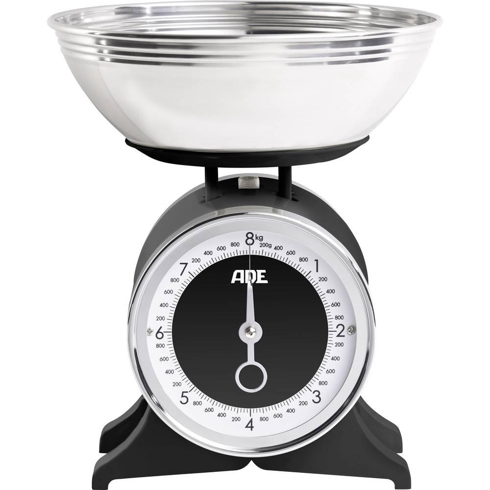 Analogna kuhinjska vaga Anna ADE, s mjernom posudom područje vaganja (maks.)=8 kg crna
