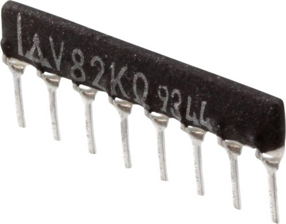 Otporna mreža radijalno ožičena SIP-8 125 mW Panasonic EXB-F8WT01G 1 kom.