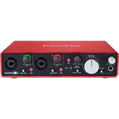 MIDI interface Focusrite SCARLETT 2I4 2ND GEN incl. software, Monitor controlling