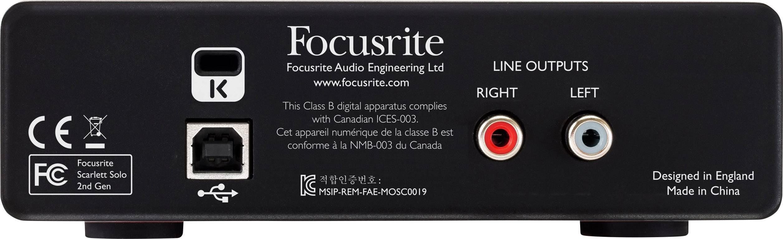 Audio interface Focusrite SCARLETT SOLO 2ND GEN Monitor