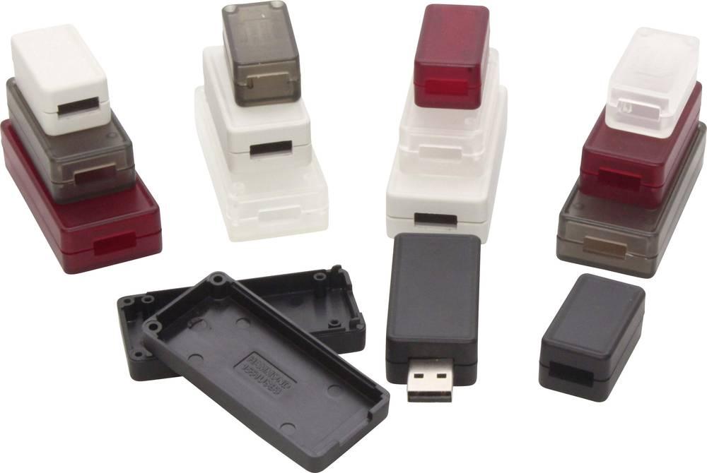 USB-kabinet 65 x 30 x 15.5 ABS Sort (RAL 9005) Hammond Electronics 1551USB3BK 1 stk