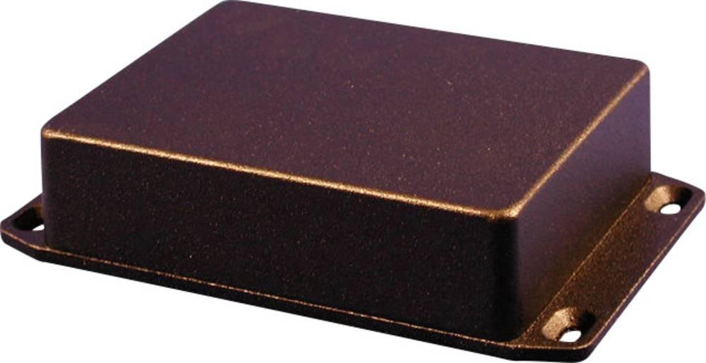 Universalkabinet 254 x 70 x 49.5 Aluminium Sort (RAL 9005) Hammond Electronics 1590WBXFLBK 1 stk