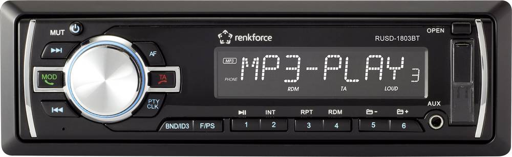 Bilradio Renkforce RUSD-1803BT Håndfrit Bluetooth®-system