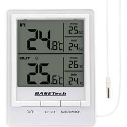 Kabelbundet termo-/hygrometer Basetech BTH 01 Hvid