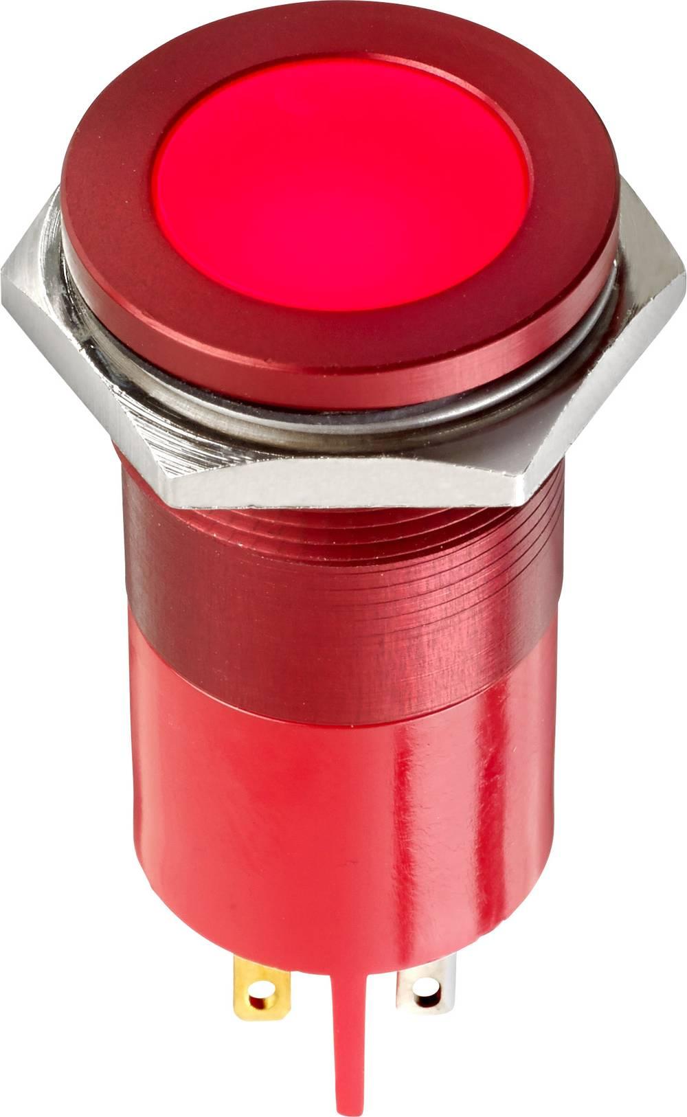 LED-signallampe APEM Q22F1ABXXB12AE 12 V/AC, 12 V/DC 40 mA Blå