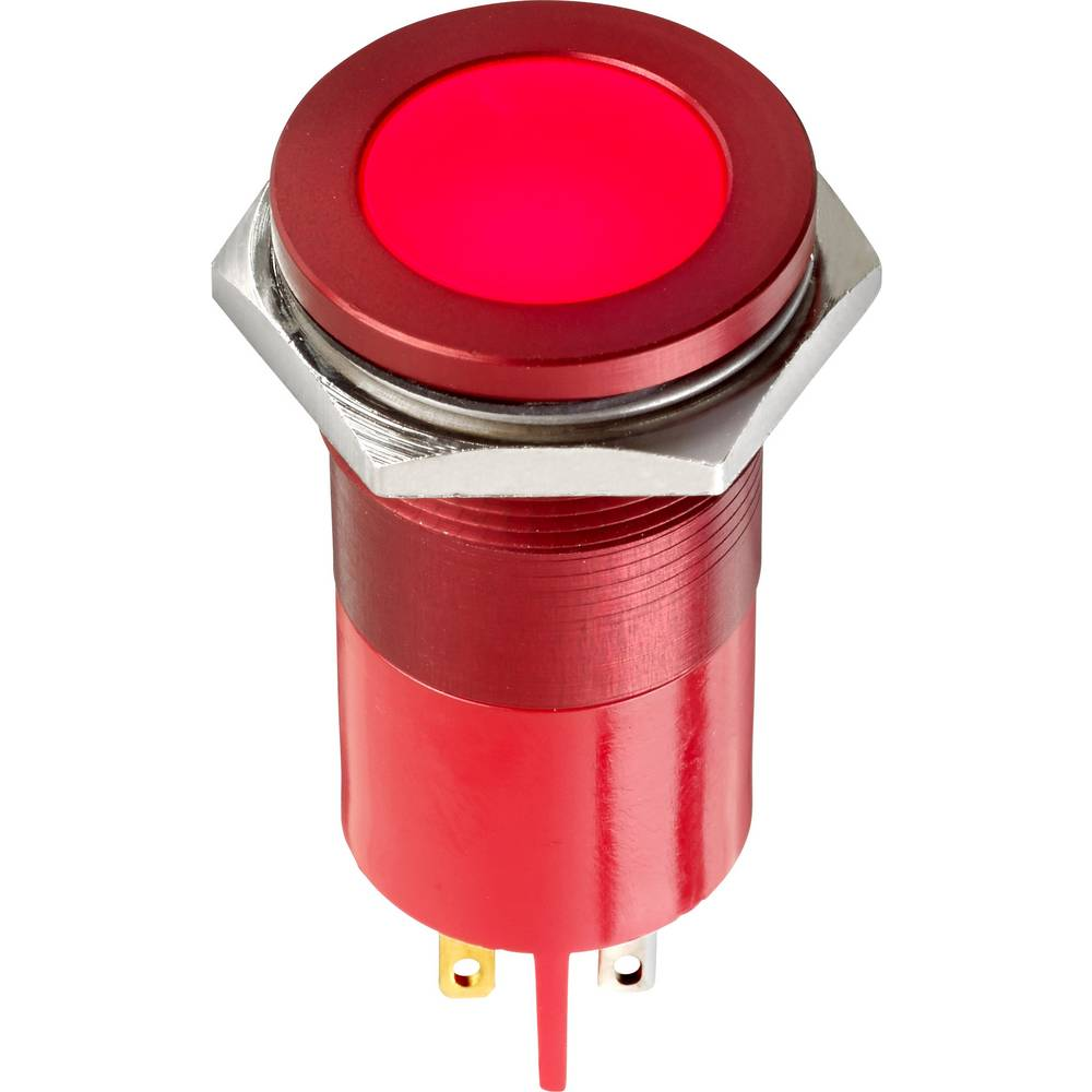 LED-signallampe APEM Q22F1AYXXSY28AE 28 V/AC, 28 V/DC 40 mA Gul
