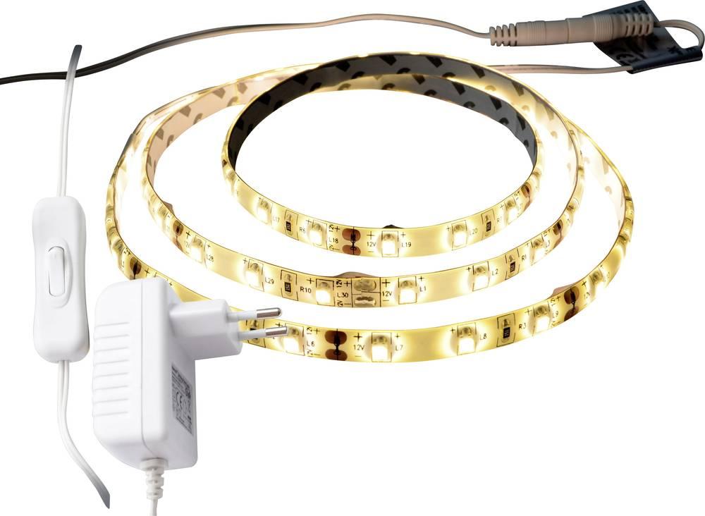 LED trak, kompletni set z vtičem 12 V 100 cm topla bela X4-LIFE