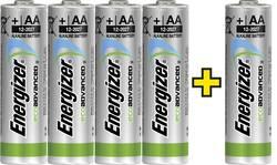 Batteri R6 (AA) Alkaliskt Energizer Eco-Advanced 4 +1 gratis 1.5 V 5 st