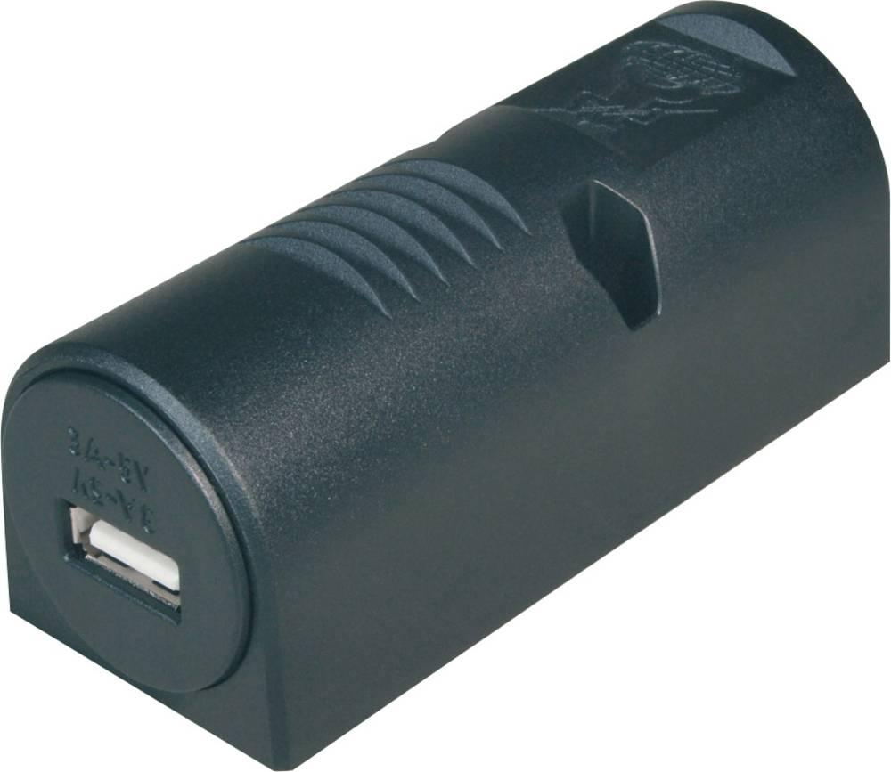 Opbygningsversion Single Power-USB ProCar 67333500 12 V til 5 V, 24 V til 5 V 3 A Kabel med åbne ender