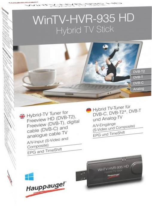 TV stick Hauppauge WinTV-HVR-935HD Recording function, incl