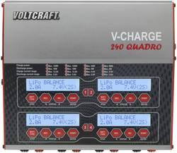 Modelbyggeri-multifunktionsoplader 12 V, 230 V 12 A VOLTCRAFT V-Charge 240 Quadro LiPo, LiFePO , Li-Ion, LiHV, NiCd, NiMH, Bly