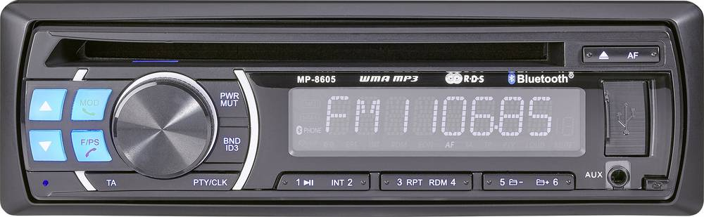 Bilradio Renkforce RUCD-1804BT Håndfrit Bluetooth®-system