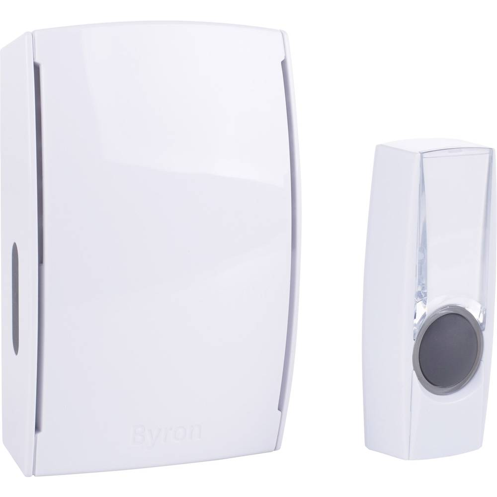 Byron By511e Wireless Door Chime Complete Set Backlit With Wiring A Doorbell Nameplate