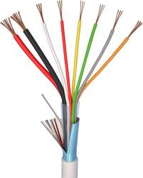 Kabel za alarm LiYY 6 x 0.22 mm + 2 x 0.75 mm bele barve ELAN 27061 meterski