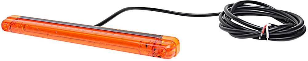 Signalna utripajoča luč 12 V, 24 V vgradnja, trajna pritrditevm pritrditev z vijaki, oranžne barve, transparentne barve SecoRüt