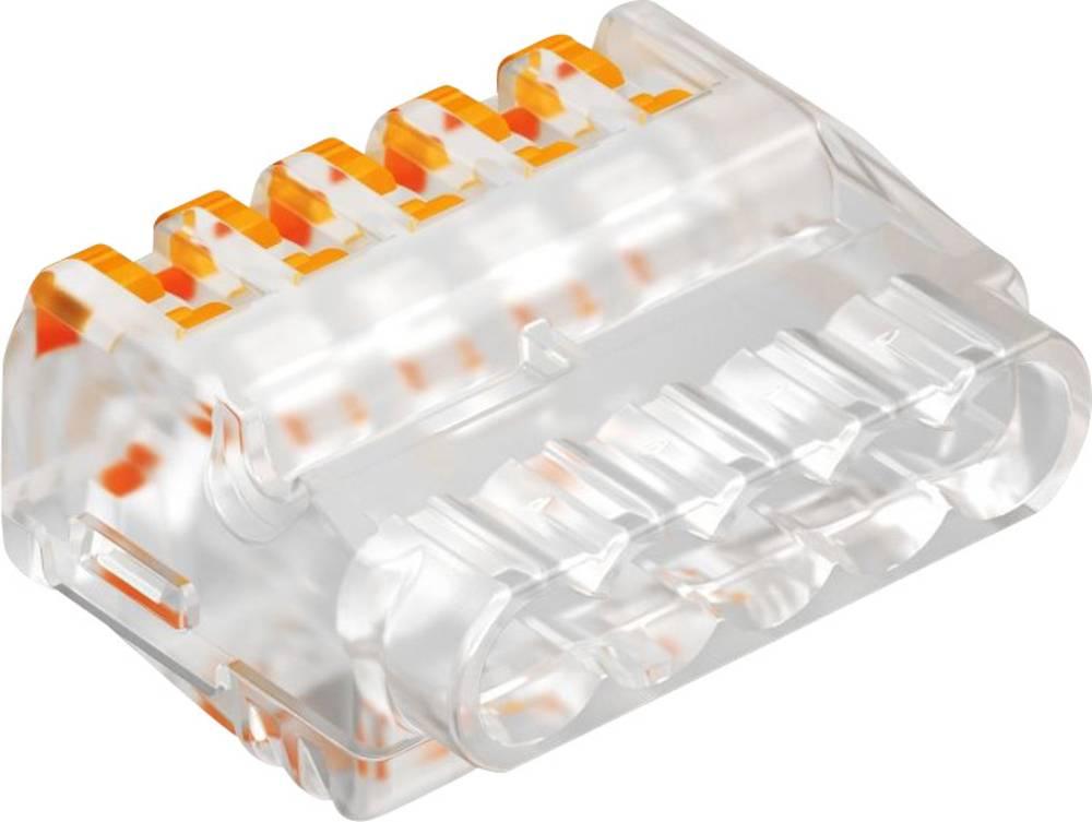 Forbindelsesklemme ATT.CALC.CROSS_SECTION_FLEXIBLE: 0.2-2.5 mm² ATT.CALC.CROSS_SECTION_RIGID: 0.2-2.5 mm² Poltal: 5 OBO Betterma