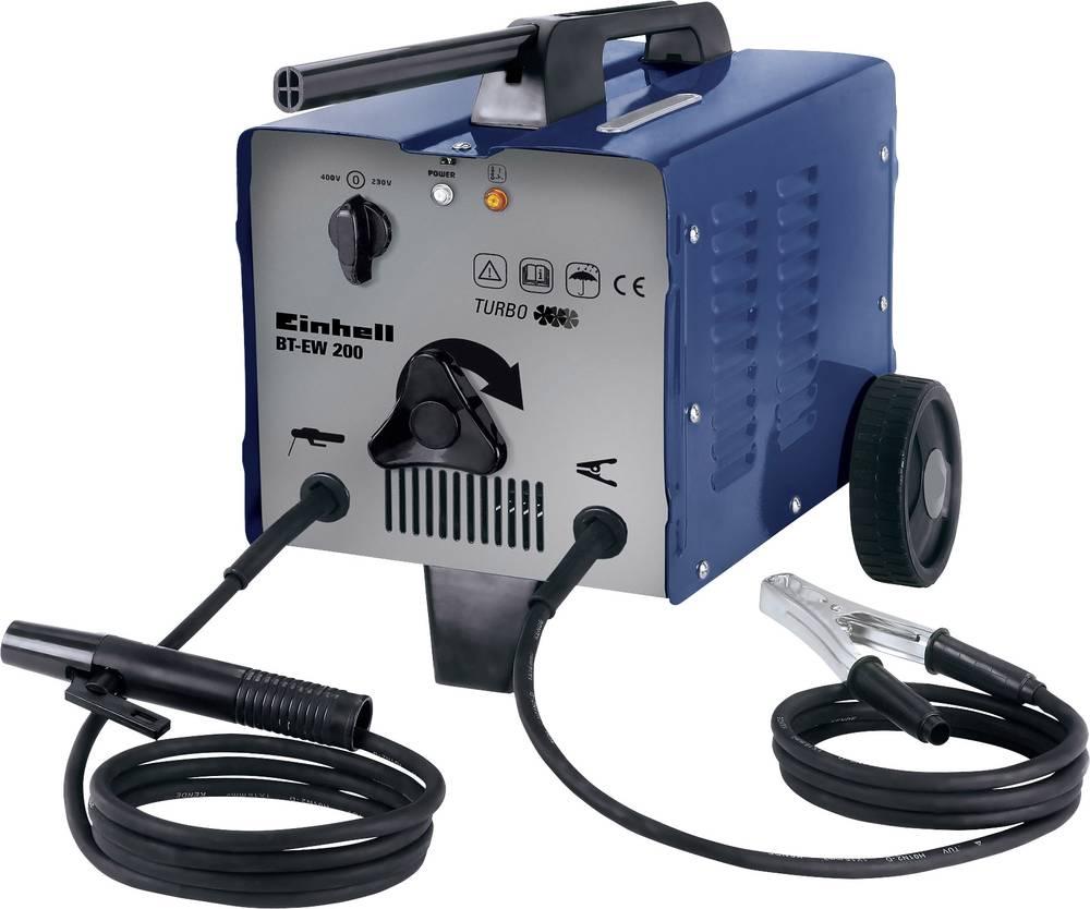 Einhell električni varilni aparat 1549040 obratovalna napetost 230/400 V/50 Hz varilni tok 57 - 200 A premer elektrode 2 - 4 mm