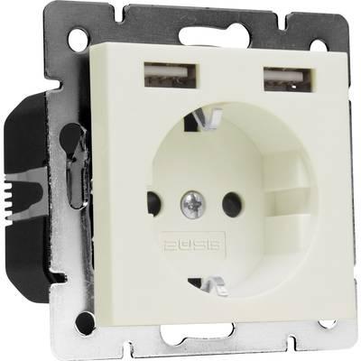 Image of 2USB 1493576 1x Flush-mount socket incl. USB, Child safety IP20 Cream-white