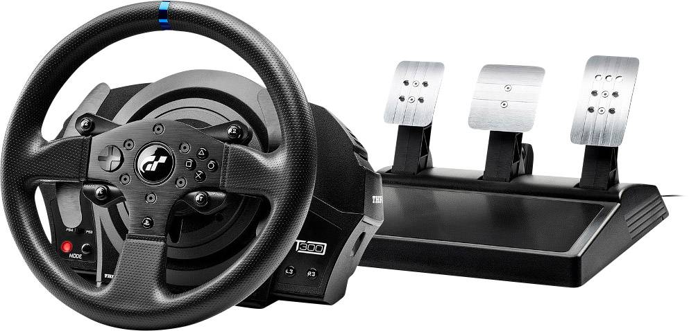 Thrustmaster TM T300 RS Gran Turismo Edition Steering wheel USB PC,  PlayStation 4, PlayStation 3 Black incl  foot pedals