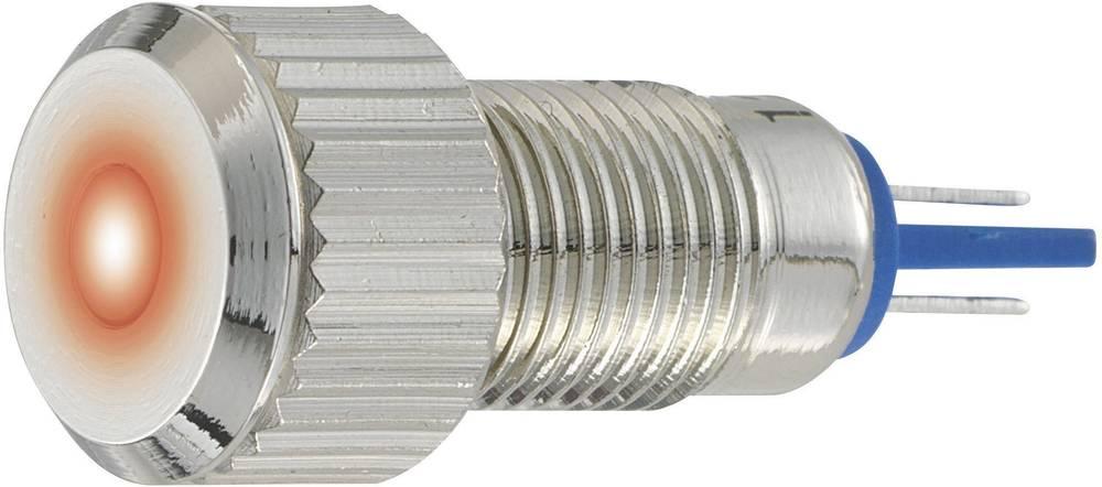 LED signalna lučka, bele barve 12 V/DC 12 V/AC TRU Components GQ8F-D/W/12V/N