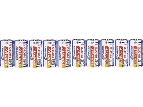 Conrad energy CR123A Fotobatterij Lithium 1500 mAh 3 V 10 stuks