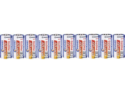Conrad energy CR123 CR123A Fotobatterij Lithium 1500 mAh 3 V 10 stuks