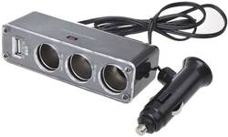 3-fach Steckdose mit USB 12/24 V