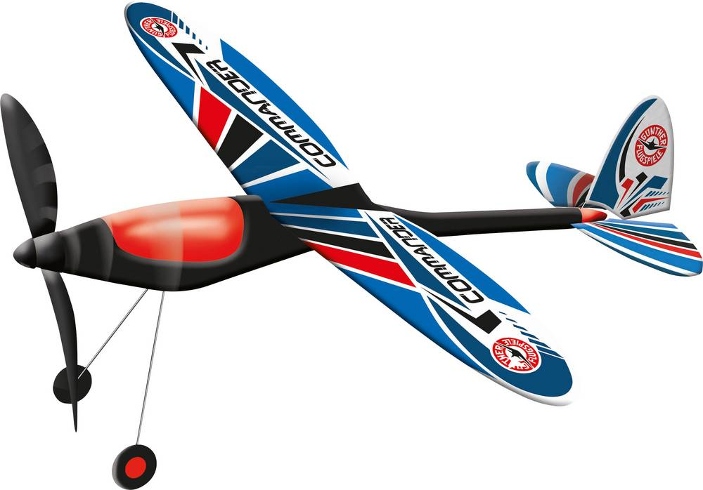 Prosto-leteči model letala letala Günther letalna igra Commander 1615