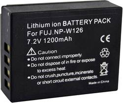 Image of Camera battery Conrad energy replaces original battery NP-W126 7.4 V