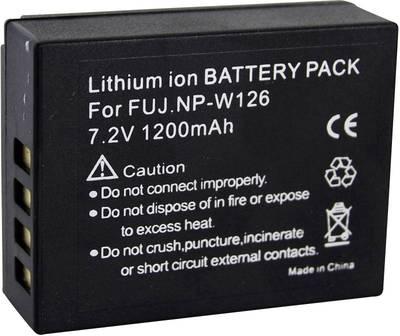 Image of Camera battery Conrad energy replaces original battery NP-W126 7.4 V