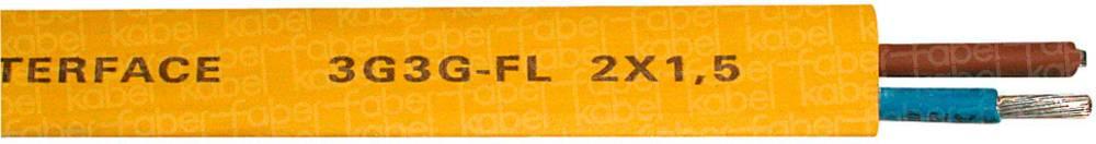 Busledning Faber Kabel 1005680400500 2 x 1.50 mm² Gul Metervare