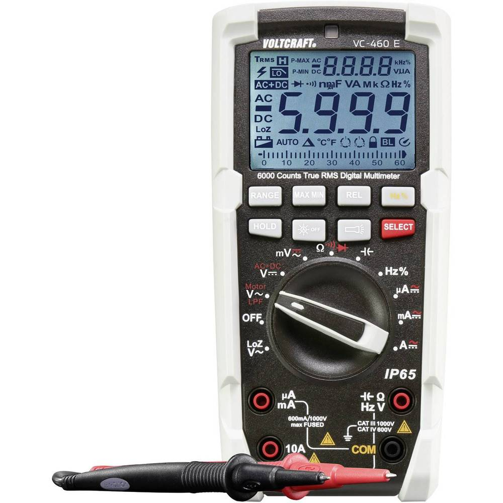 Voltcraft Vc 460 E Handheld Multimeter Digital Calibrated To Electronic Multimeters Manufacturers Standards No Certificate