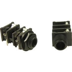 Jack-stik 6,35 mm Cliff FCR50051 Poltal 3 Stereo Sort 1 stk