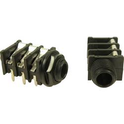 Jack-stik 6,35 mm Cliff FCR50055 Poltal 2 Mono Sort 1 stk