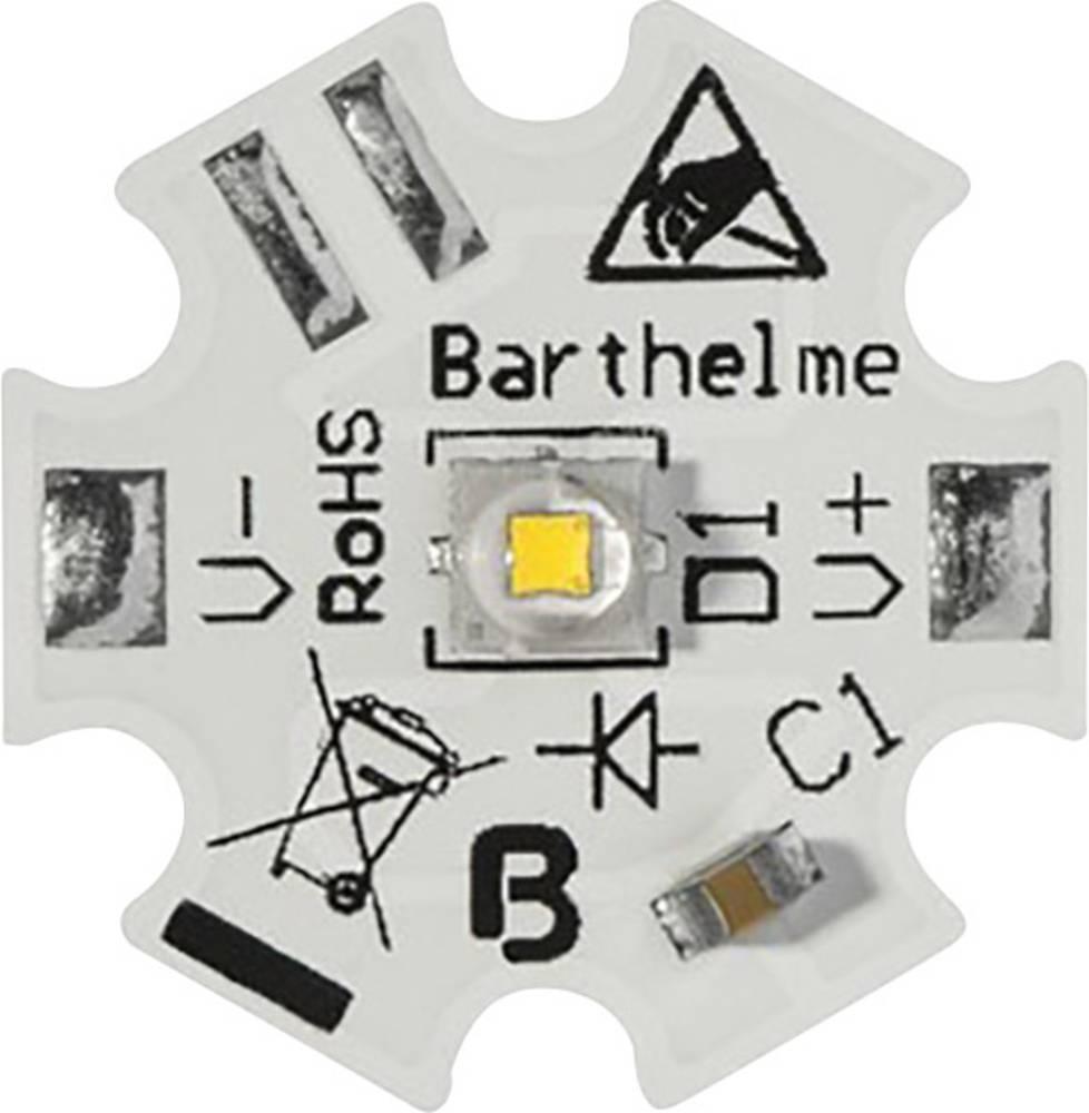 HighPower LED topla bela 1 W, 2 W, 6 W 130 lm, 235 lm, 470 lm 150 ° 350 mA, 700 mA, 1800 mA Barthelme 61003728