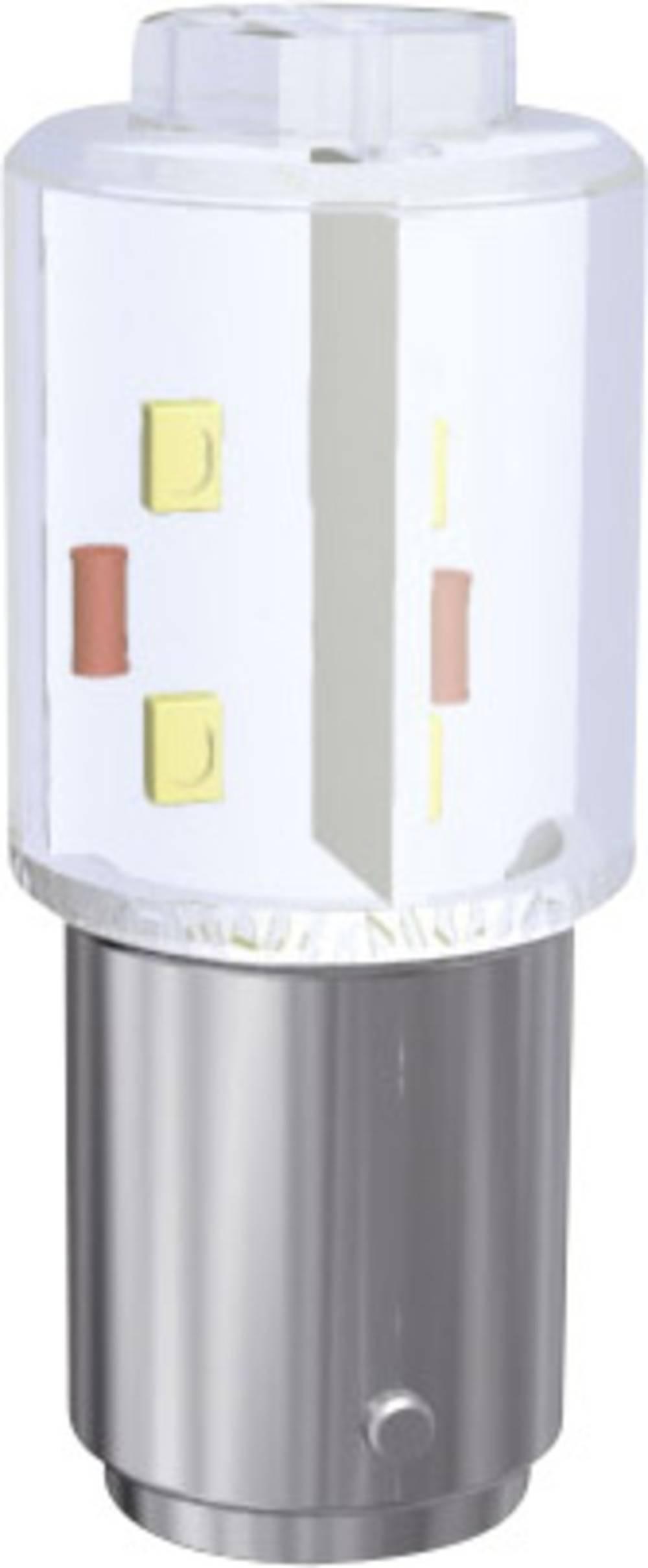 LED-diode Signal Construct BA15d 230 V/DC, 230 V/AC Varm hvid