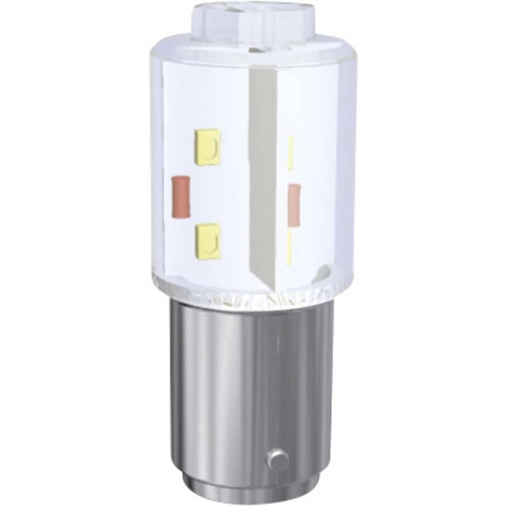 LED-diode Signal Construct BA15d MBRD150854 24 V/DC, 24 V/AC Varm hvid