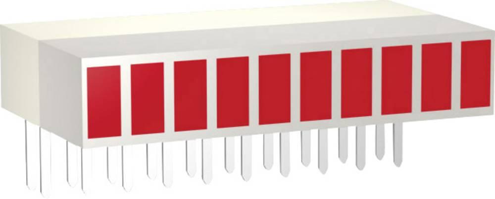LED vrstne diode, 10-delne, rdeča (D x Š x V) 25.4 x 14 x 5 mm Signal Construct ZAEW1030