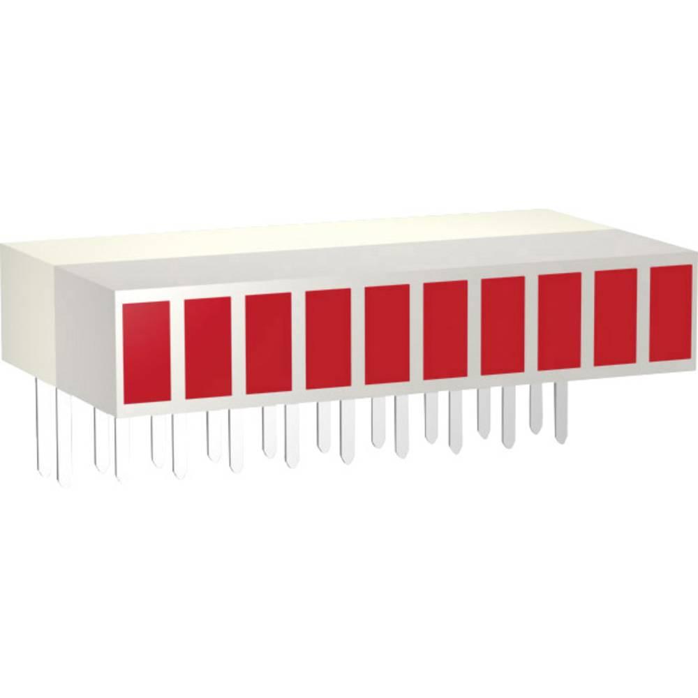 LED diode u nizu, 10-dijelne, crvena (D x Š x V) 25.4 x 14 x 5 mm Signal Construct ZAEW1030