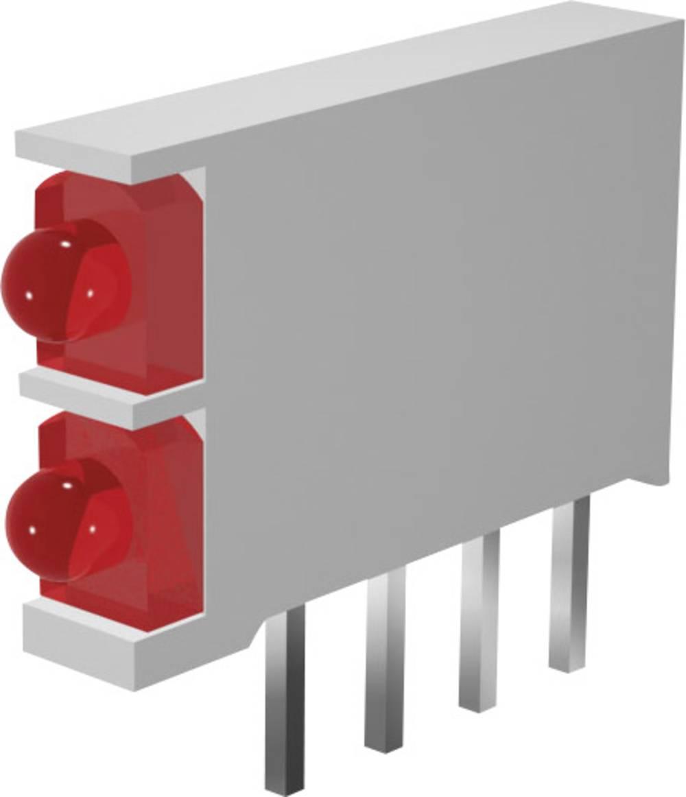 LED-komponent Signal Construct DBI01322 (L x B x H) 15.5 x 2.5 x 12 mm Dobbelt Grøn, Grøn