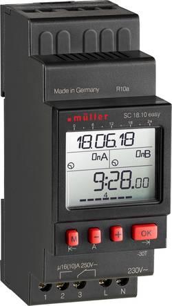 Digitalt kopplingsur SC 18.10 easy Müller SC 18.10 easy NFC 230 V 16 A/250 V