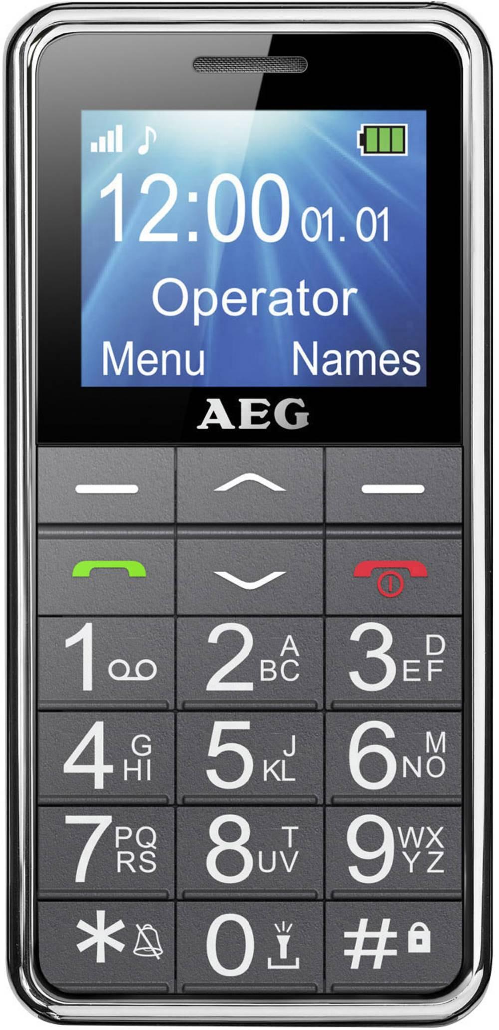 Senior-mobiltelefon AEG SM250 Svart