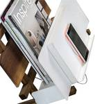 Qi charger with magazine stand