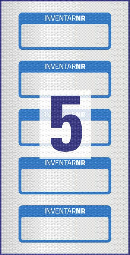 Labels in Blue Strong Adhesive /& Rip Proof 38mm x 20mm Tool No