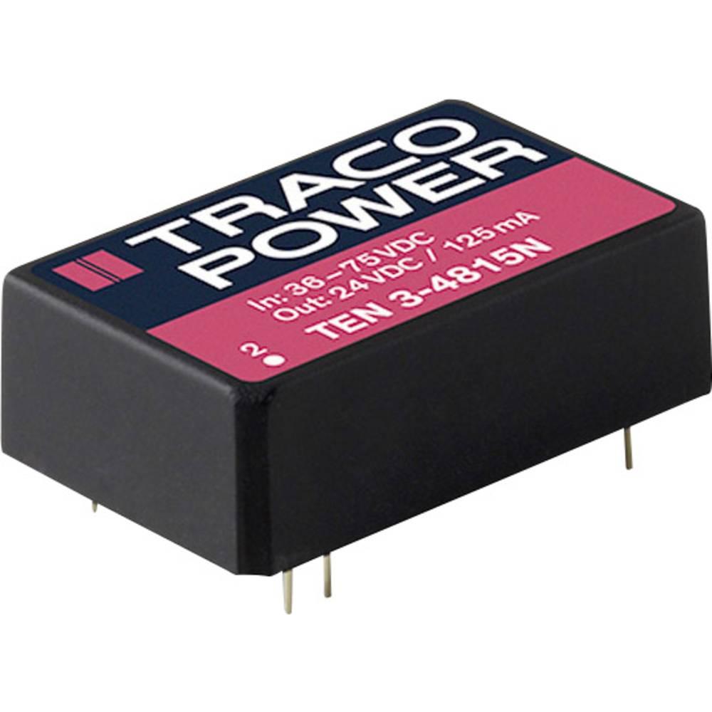 DC/DC pretvornik za tiskano vezje TracoPower TEN 3-2421N 24 V/DC 250 mA 3 W št. izhodov: 2 x