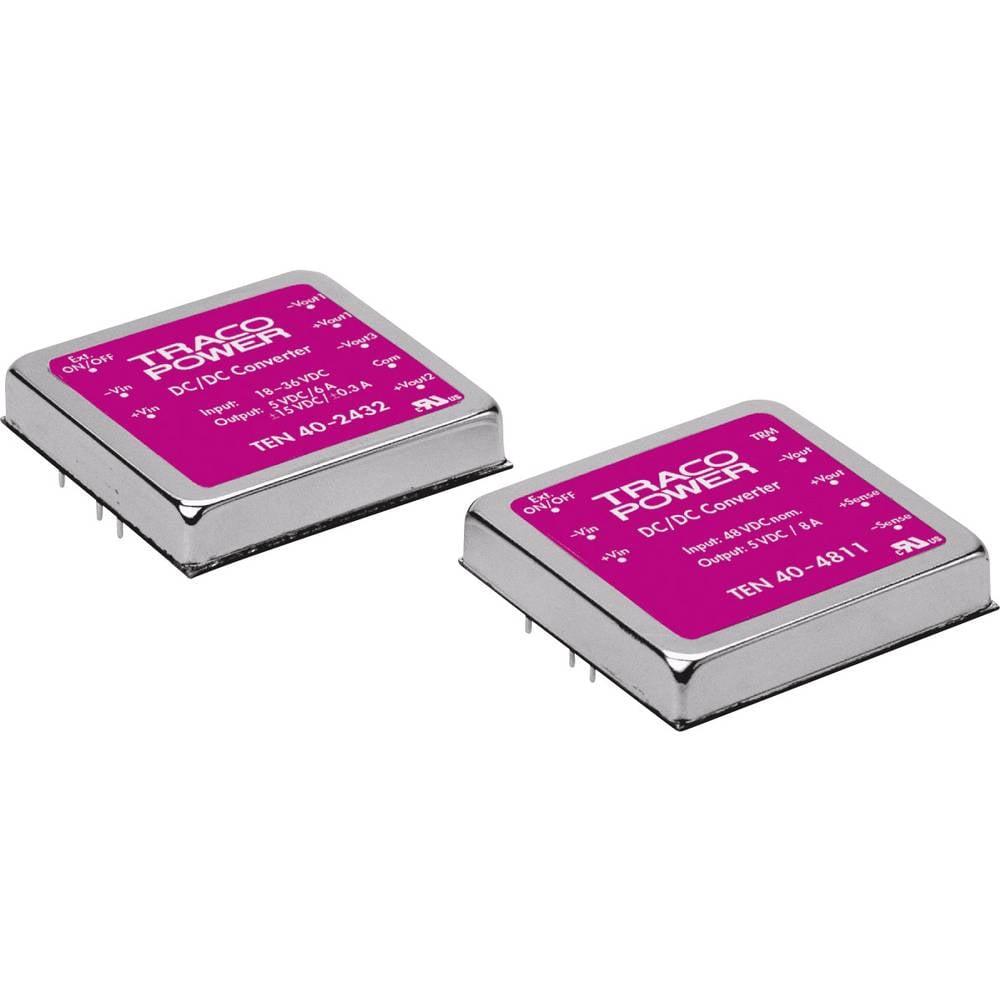 DC/DC pretvornik za tiskano vezje TracoPower TEN 40-4820 48 V/DC 8000 mA 40 W št. izhodov: 2 x