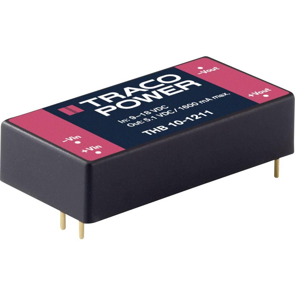 DC/DC pretvornik za tiskano vezje TracoPower THB 10-2412 24 V/DC 835 mA 10 W št. izhodov: 1 x