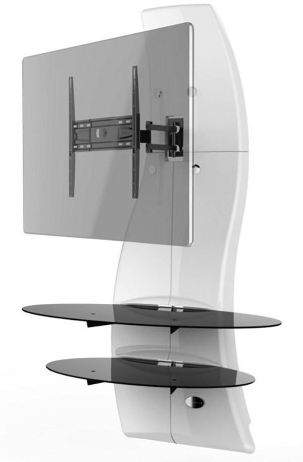 Meliconi Tv Meubel.Meliconi Ghost Design 2000 Rotation White Tv Wall Mount 81 3 Cm 32