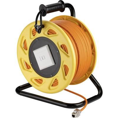 Goobay RJ45 Networks Cable reel S/FTP 50.00 m Orange
