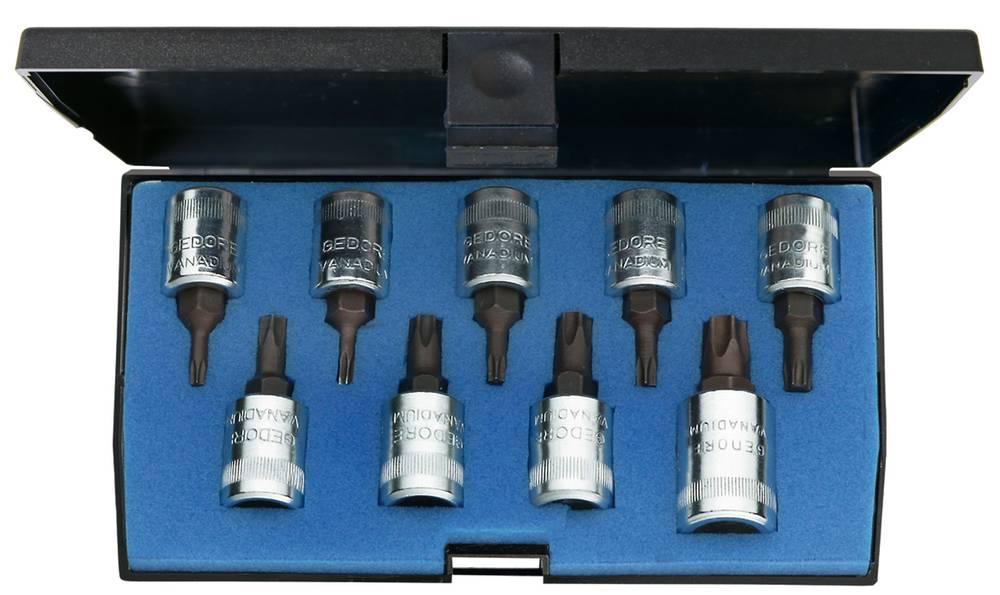 Torx Topnøgle-bit-sæt Gedore 1815636 1/4 (6,3 mm) 9 dele